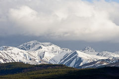 Alaskan mountain range Royalty Free Stock Images