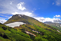 Alaskan mountain views. Views from Flattop Mountain track, Anchorage, Alaska USA Stock Images