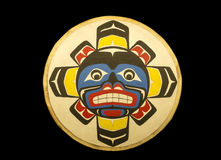 Alaskan native painted plaque Stock Image