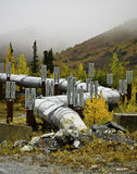 Alaskan oil pipeline Stock Photos