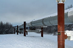 Alaskan pipeline Royalty Free Stock Photography
