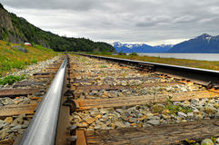 Alaskan railway Stock Photos
