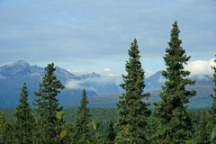 Alaskan Range. Alaska mountians in north country royalty free stock photos