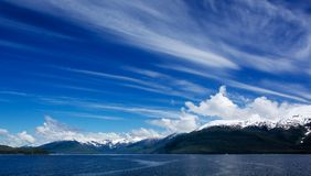 Alaskan Sky Clouds Left to right Royalty Free Stock Image