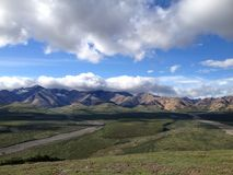 Alaskan Skyline. Mountains in Alaska on a beautiful day royalty free stock photo