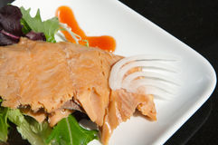 Alaskan smoked sockeye salmon Stock Images
