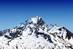 Alaskan snowy mountain peaks Stock Image