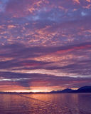 Alaskan Sunset stock photography