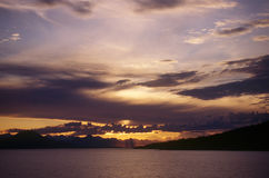 Alaskan sunset. Sunset over the Inside Passage in Alaska stock photos