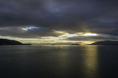 Alaskan Sunset Stock Image