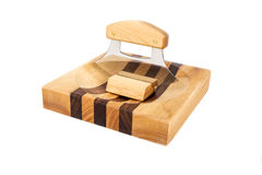 Alaskan Ulu on a Chopping Block #2 Royalty Free Stock Images