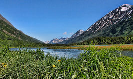 Alaski jezioro krajobraz Obrazy Stock
