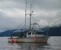 alaski połowowych łodzi Obrazy Royalty Free