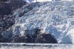 Alaskische Gletscher-Details Stockbild