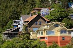 Alaskische Häuser stockfotos