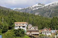 Alaskische Häuser stockfoto