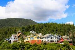 Alaskische Häuser lizenzfreies stockfoto