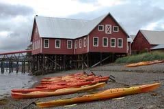 Alaskische Häuser lizenzfreie stockfotos