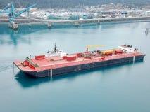 Alaskischer Öllastkahn lizenzfreie stockbilder