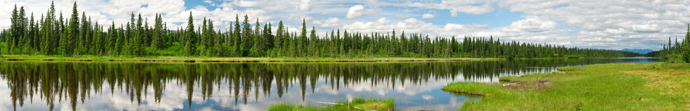 Alaskischer Fluss stockbild