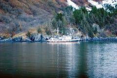 Alaskisches Fischerboot Stockfotos