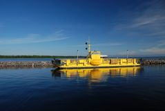 The Alassalmi Ferry on lake Oulujarvi in Finland Royalty Free Stock Photography