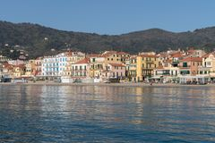 Italian Riviera. Seafront at the resort of Alassio Royalty Free Stock Photography