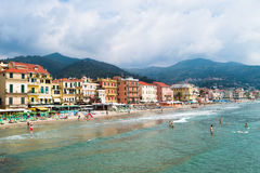 Alassio's coastline Stock Photo