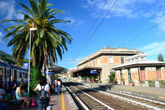 Alassio trainstation Stock Photo