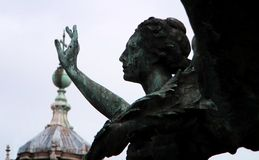 Alato ` ` di vittoria Dea Nike, un carattere da mitologia greca, simbolizzante il ` di vittoria del ` immagine stock libera da diritti