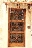 Alatri, średniowieczna wioska w środkowym Włochy stare drzwi Fotografia Royalty Free