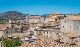 Scenic sight in Alatri, province of Frosinone, Lazio, central Italy. Alatri is a town and comune of province of Frosinone in the Italian region of the Lazio royalty free stock images