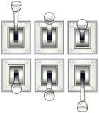 Alavancas de ligar/desligar ilustração royalty free