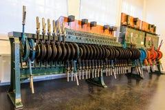 Alavancas velhas do interruptor da estrada de ferro fotos de stock
