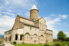 Alaverdi Monastery in Kakheti region in Eastern Georgia. Alaverdi Monastery is a Georgian Eastern Orthodox monastery located nearby Akhmeta in Kakheti region in royalty free stock image