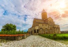 Alaverdikathedraal in Georgië Stock Foto's