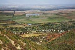Alazani dolina Krajobraz blisko Sighnaghi Kakheti Gruzja Obrazy Royalty Free