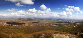 Alazani Valley panorama Royalty Free Stock Photography