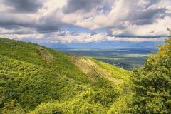 Alazani valley, Signagi, Kakheti region, Georgia Royalty Free Stock Photography