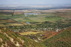 Alazanivallei Landschap dichtbij Sighnaghi Kakheti georgië Royalty-vrije Stock Afbeeldingen