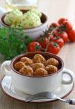 Albóndigas en salsa de tomate Imágenes de archivo libres de regalías
