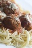 Albóndigas y espagueti Imagen de archivo libre de regalías