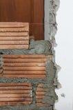 Albañilería, construcción de edificios. Fotografía de archivo
