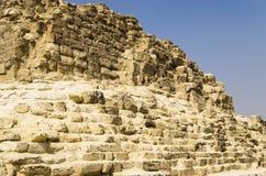 Albañilería de piedra vieja de la pirámide Fotos de archivo libres de regalías
