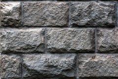 Albañilería hecha de bloques grandes del granito Fotos de archivo libres de regalías