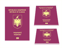 Albański paszport Zdjęcie Royalty Free