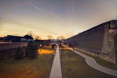 Alba интерьер крепости Carolia в Румынии Стоковое фото RF