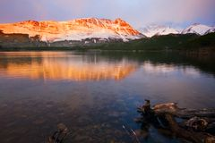 Alba 2 di Patagonia Immagine Stock