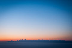 Alba immagine stock