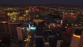 Alba aerea della striscia di paesaggio urbano di Las Vegas video d archivio